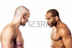 Sold at 123rf: Stock Photo - two muscle fighter