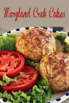 """Old Bay® Crab Cakes. In Maryland, crab cakes are as familiar as bread and butter. This classic """"from scratch"""" recipe features fresh lump crabmeat that is sensationally seasoned with OLD BAY®, the choice spice of seafood lovers. Crab Cake Recipes, Fish Recipes, Seafood Recipes, Cooking Recipes, Healthy Recipes, Crab Cakes Recipe Best, Dining, Gourmet, Yummy Recipes"""