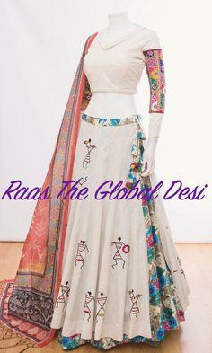Chaniya Choli For Navratri Half Saree Designs, Choli Designs, Lehenga Designs, Blouse Designs, Indian Designer Outfits, Indian Outfits, Designer Dresses, Indian Attire, Indian Wear