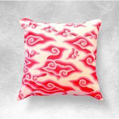 Shop for Brunna.Co's Mega Mendung Traditional Indonesian Handmade Batik Pillow Case from Chairish.com !