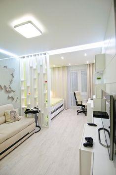 Apartment One Room Layout Condo Interior Design, Condo Design, House Design, Studio Apartment Layout, Studio Apartment Decorating, Small Condo Decorating, Apartment Ideas, Studio Living, Condo Living