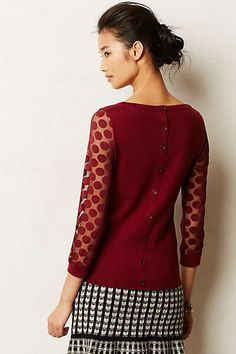 Anthropologie - Dotlace Pullover