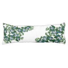 Mandevilla Flowers Floral Botanical Body Pillow