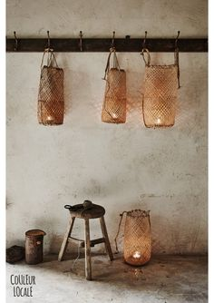 Couleur Locale store treasures from Marocco Wabi Sabi, Rattan, Wicker, Rue Verte, Basket Lighting, Deco Boheme, Scandinavian Home, Home And Deco, Mason Jar Lamp
