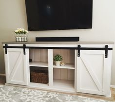 Sliding door console | Do It Yourself Home Projects from Ana White
