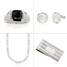 Jewelry and Gifts for Men! Men's rings, men's necklaces or bracelets for men including styles from Scott Kay. Personalized cuff links, keychains or money clips. Click on the men's jewelry for more gift ideas from Ross-Simons. #fathersday #giftsformen