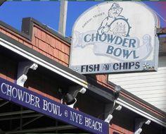 The Chowder Bowl, Nye Beach - Newport, Oregon BEST. Chowder. EVER. #chowder #nyebeach #chowderbowl