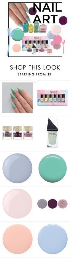 """#pastelnails"" by lindsaysarson ❤ liked on Polyvore featuring beauty, Deborah Lippmann, Smith & Cult, GUiSHEM, Butter London, Jin Soon, Essie, Nails Inc. and pastelnails"