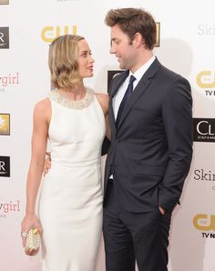 Pin for Later: Red Carpet PDA That's Way Too Cute to Handle Emily Blunt and John Krasinski, 2013