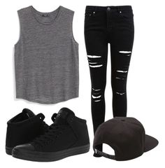 """The black is back"" by eemaj ❤ liked on Polyvore featuring MANGO, Miss Selfridge, Converse and Vans"