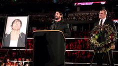 Seth Rollins and Kane host a eulogy for Dean Ambrose thinking that they would have no more and they could forget about The Shield