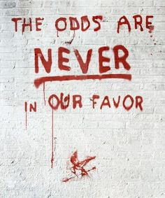 #Catching Fire Hunger Games the odds are never in our favor