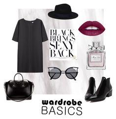 Black basics by ennaid fashion style Non Givenchy Zara Christian Dior clothing