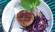 Recette de joue de cochon de Bellota, purée de shiitake et salade de chou rouge - L'Express