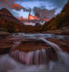"""Red Glow - I had to take this shot down and reprocess it. It had some small issues here and there I didn't notice before. It looks better to me now. So, here it is again. Taken early in the morning in Patagonia Argentina.  See and like more of my work:  <a href=""""http://www.eveningphotography.com"""">My Website</a> 