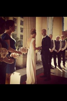 The Melbourne Town Hall Balcony... love it! www.amberthecelebrant.com