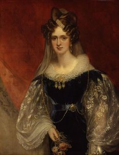 Adelaide Amelia Louisa Theresa Caroline of Saxe-Coburg Meiningen (Sir William Beechey - ca. Queen of William IV and eldest daughter of the Duke of Saxe-Coburg Meiningen King William Iv, King George, Prince William, Romantic Period, Lady, Queen Of England, National Portrait Gallery, Glamour, Portraits