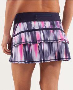 Lululemon running skirt ~ ruffles on the black and stright skirt on the front