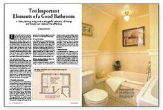 Ten Important Elements of a Good Bathroom