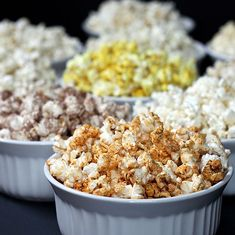 There's been considerable buzz lately about the health benefits of both popcorn and coconut oil. Today's post combines both of these in an easy microwave method for making 10 different popcorn flavors. A 2-cup serving size of each of these recipes is 100 calories or less, making them a great choice for a healthy, figure-friendly snack.
