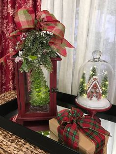 Lantern decorating idea for Christmas
