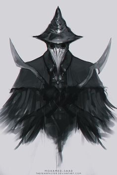 Eileen the Crow art Bloodborne