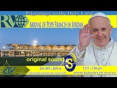 Pilgrimage to the Holy Land. Pope Francis arrives in Jordan and is transferred by car to the Al-Husseini Royal Palace for the welcome ceremony. Youth Day, Holy Land, Pope Francis, Replay, Live Tv, Pilgrimage, Jordans, Celebrities, Youtube