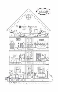 1109 Poplar Interactive House Cross Section By Juneatnoon On Etsy