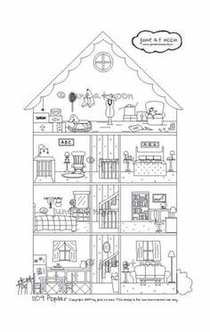 1109 Poplar Interactive house cross section por juneatnoon en Etsy