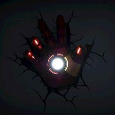 The Avengers 3d Wall Art Nightlight - Iron Man Hand @ niftywarehouse.com #NiftyWarehouse #IronMan #Iron-man #Marvel #Avengers #TheAvengers #ComicBooks #Movies