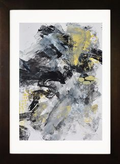 Abstract Black and White Painting on Paper  by Andrada on Etsy, $150.00