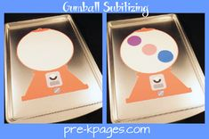 Idea for subitizing practice using gumballs, could also do cookies in cookie jar