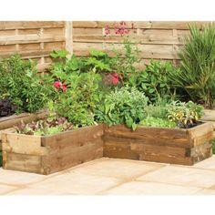 Hartwood Corner Planter - http://www.sheds.co.uk/hartwood-corner-planter.html