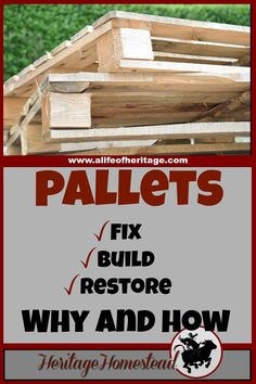 Pallets | Building with pallets | Pallet projects | Two reasons why pallets are awesome. And how to use pallets in your home and on your homestead right away. Great ideas to keep you going!