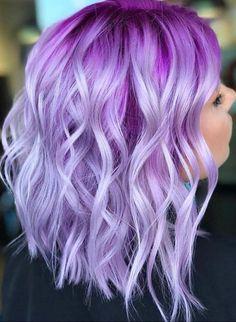 Ninja cosmico ombre purple hair, pink hair colors, lilac hair, blue hair, p Exotic Hair Color, Hair Color Purple, Hair Dye Colors, Cool Hair Color, Purple Ombre, Pastel Purple, Purple Bob, Bright Hair Colors, Pastel Ombre Hair