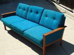Teak Teal Sofa - $899