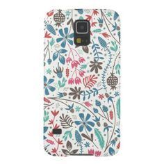 Girly Modern Floral Pattern Samsung Galaxy S5 Case