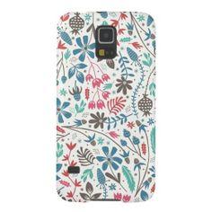 Girly Modern Floral Pattern Samsung Galaxy S5 Case
