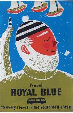 Daphne Padden Royal Blue fisherman poster