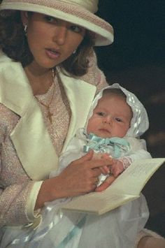 Princess Alexandra (now countess after re-married),  with her son  Nicolai, the Danish sovereigns' first grandson christening on 06 Nov 1999