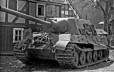 Abandoned Jagdtiger with Porsche suspension, Germany 1945