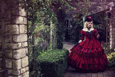 Sale Masquerade Circus Ball Gown Halloween by RomanticThreads