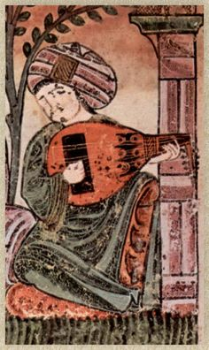 Bayâd plays the lute :: Al-Andalus, XIII c.