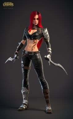 Katarina fan art, Navid Dadgar on ArtStation at https://www.artstation.com/artwork/PGoVB