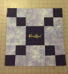 Design wall Crown Royal block – Always Quilts Crown Royal Quilt, Crown Royal Bags, Royal Crowns, Quilting Projects, Quilting Designs, Sewing Projects, Quilting Ideas, Sewing Tutorials, Sewing Ideas