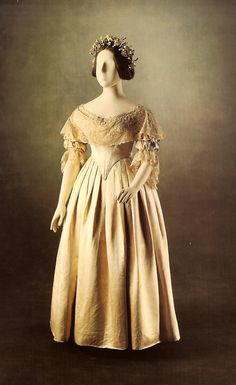 Dress worn by Queen Victoria at her wedding to Prince Albert of Saxe-Coburg and Gotha, February 10, 1840
