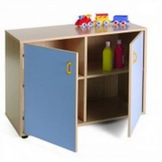 Mueble escolar bajo armario 4 casillas y 2 puertas