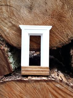 Elegant Little Wood Architectural Doorway with Steps by UtteeDesigns on Etsy