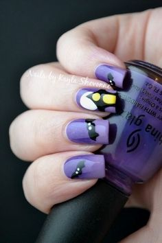 Nails by Kayla Shevonne: Halloween Nail Art - Haunted House check out www.MyNailPolishObsession.com for more nail art ideas.
