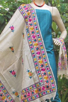 Fine Silk & Cotton Dupatta & Kurta Fabric | India1001.com